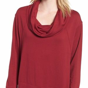 Caslon Cowl Neck Sweatshirt Tunic Small
